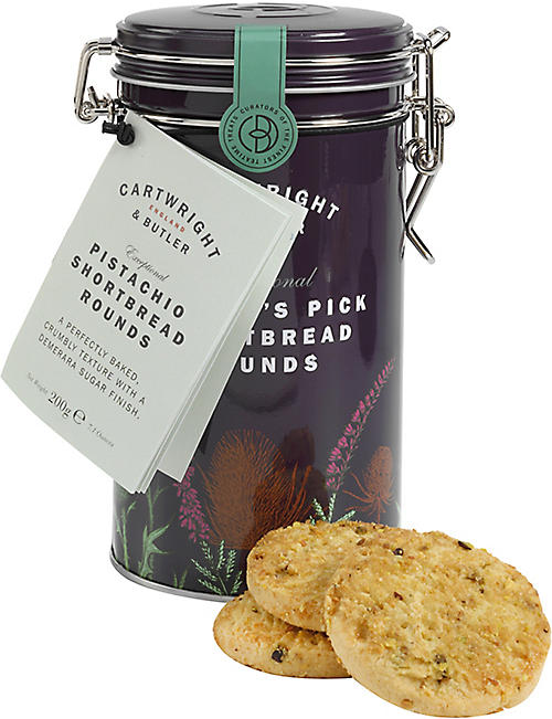 CARTWRIGHT & BUTLER: Pistachio shortbread rounds 200g