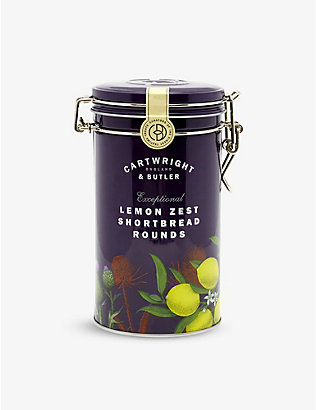 CARTWRIGHT & BUTLER: Lemon zest shortbread biscuits 200g