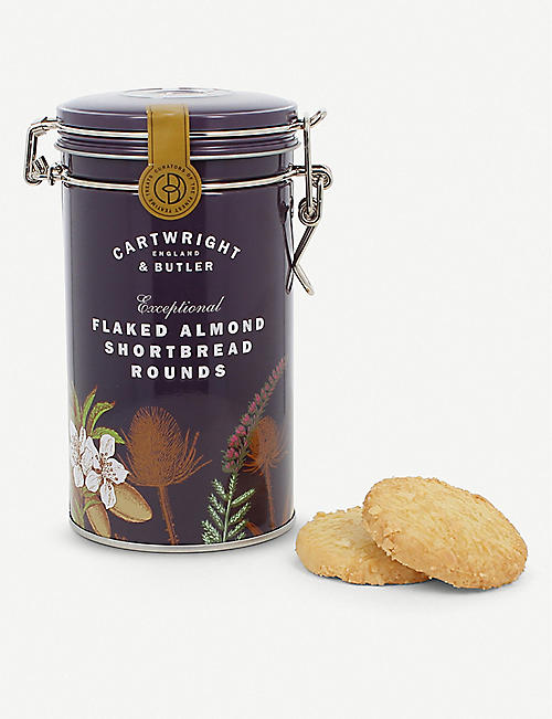 CARTWRIGHT & BUTLER Flaked almond shortbread biscuits 200g
