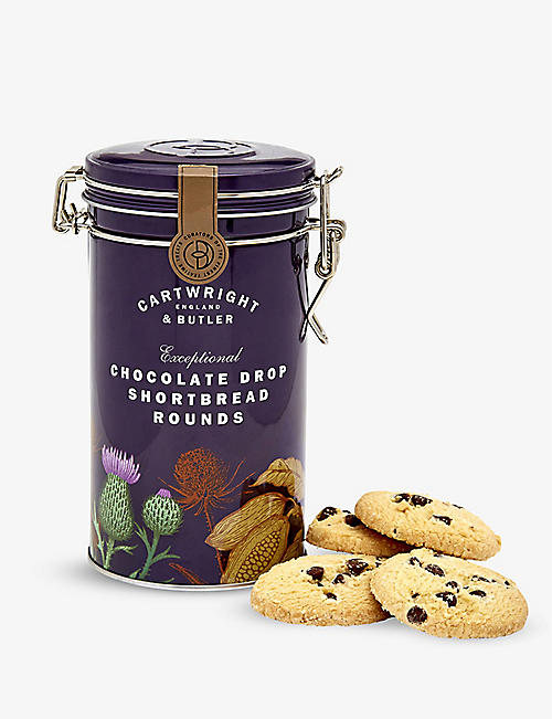CARTWRIGHT & BUTLER Chocolate drop shortbread biscuits 200g