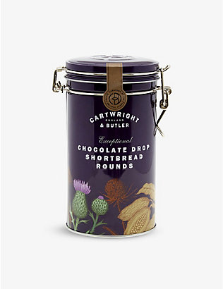 CARTWRIGHT & BUTLER: Chocolate drop shortbread biscuits 200g