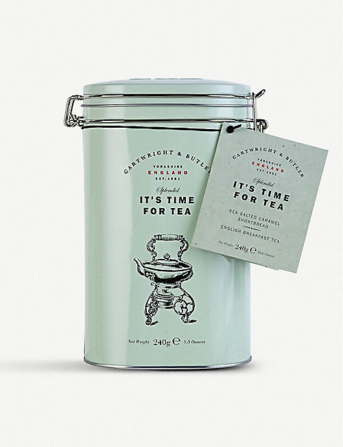 CARTWRIGHT & BUTLER: It's Time For Tea shortbread and tea set 240g