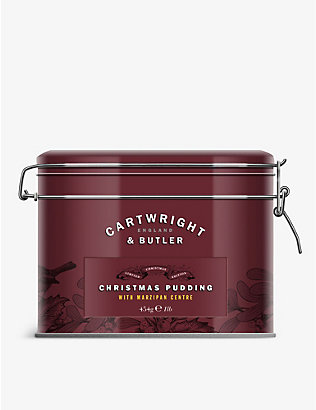 CARTWRIGHT & BUTLER: Marzipan and almond Christmas pudding 454g