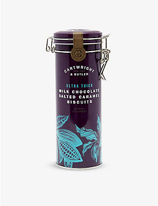 CARTWRIGHT & BUTLER: Ultra Thick milk chocolate salted caramel biscuits 190g