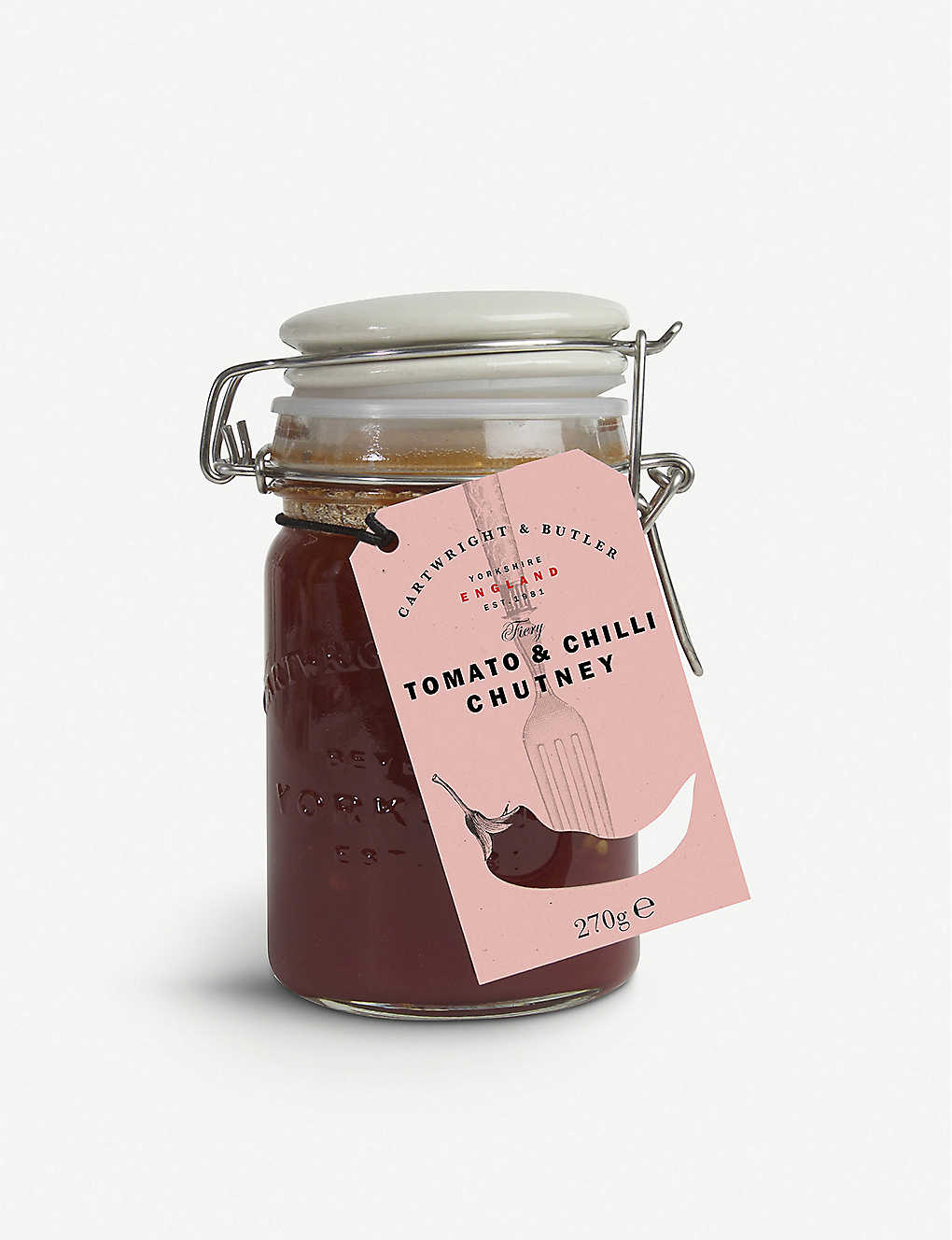 CARTWRIGHT & BUTLER: Tomato and chilli chutney 270g