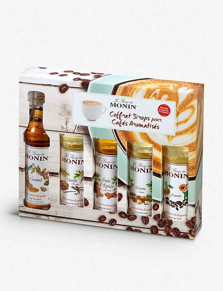 Flavoured coffee syrups sampler set 5 x 50ml