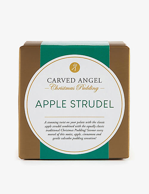 CARVED ANGEL: Apple strudel Christmas pudding 454g