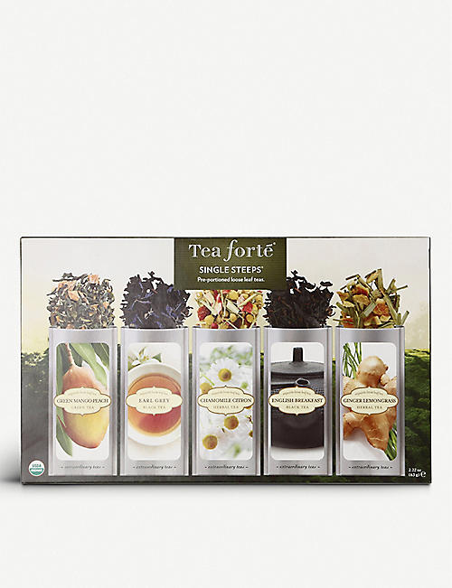 TEA FORTE: Classic single steep sampler collection 63g