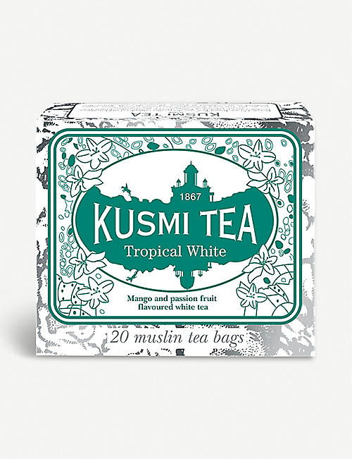 KUSMI TEA: Tropical White tea bags box of 36