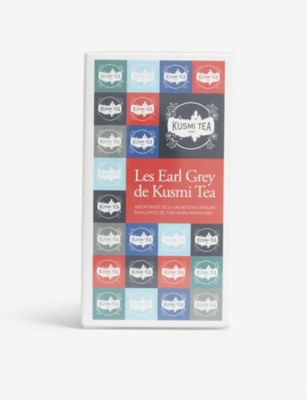 KUSMI TEA Earl grey tea bag selection box of 24