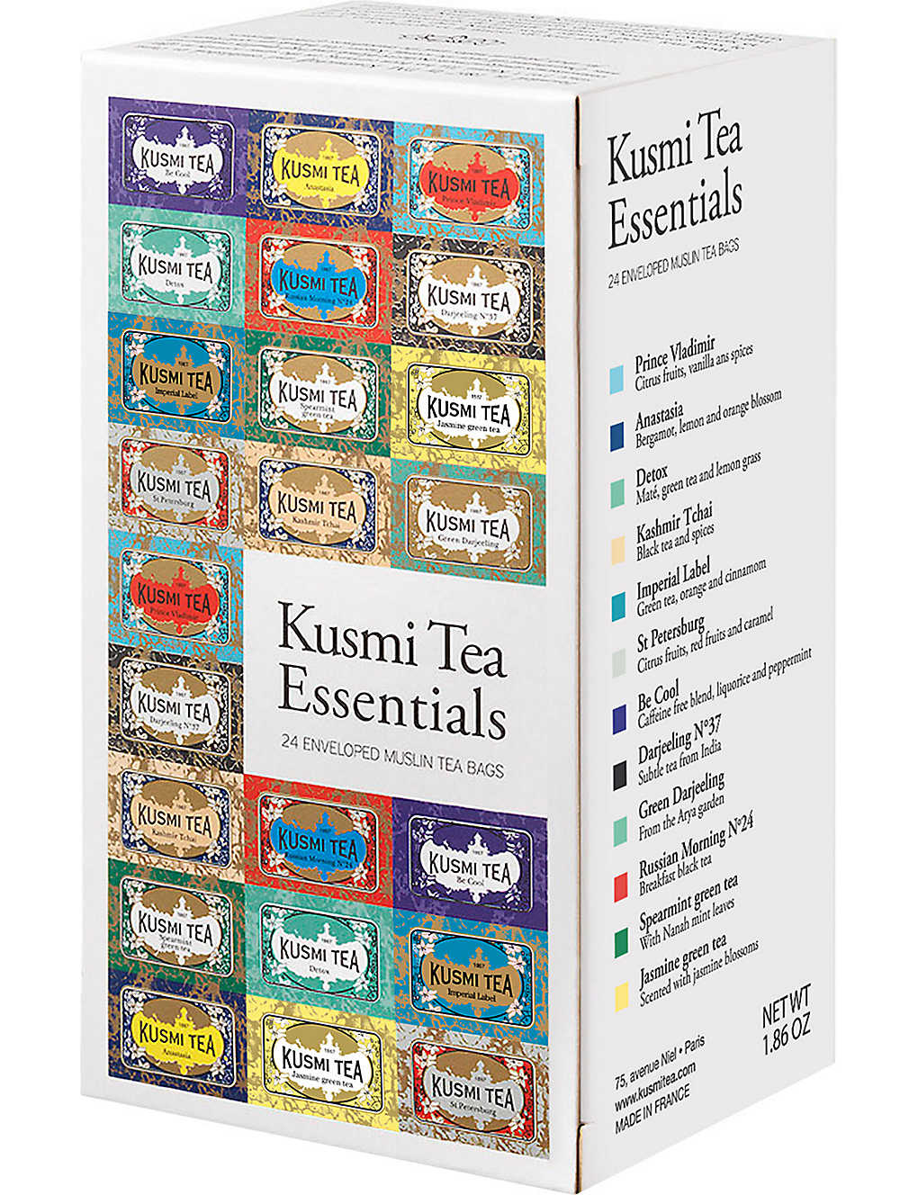 KUSMI TEA: Tea Essentials gift box 52.8g box of 12
