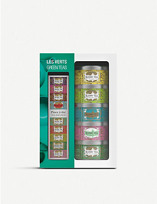 KUSMI TEA: Green gift pack and infuser box of 5 25g