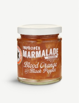 THE PROPER MARMALADE COMPANY Blood orange and black pepper marmalade 227g