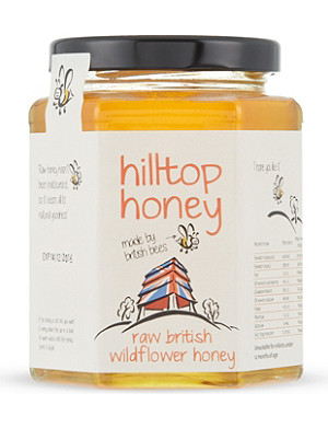 CONDIMENTS & PRESERVES Hilltop Honey Raw British wildflower honey 340g