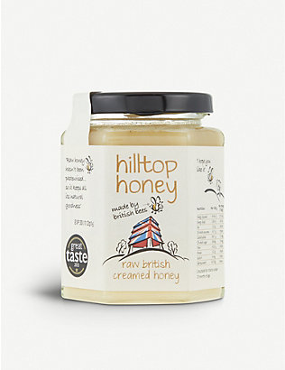 CONDIMENTS & PRESERVES: Hilltop Honey Raw British creamed honey 340g