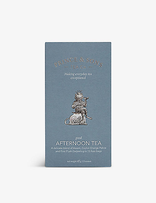 TEA: Prince & Sons Tea Co Afternoon Tea teabags box of 15