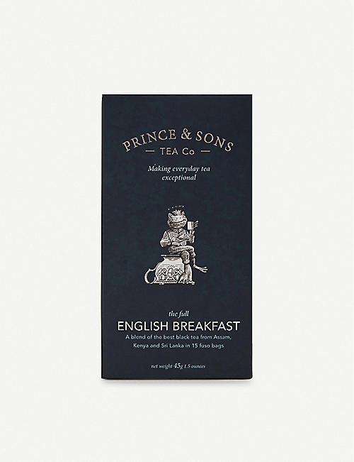 PRINCE AND SONS TEA CO: The Full English Breakfast tea bags box of 15