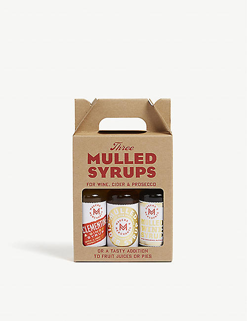 CHRISTMAS Three mulled syrups