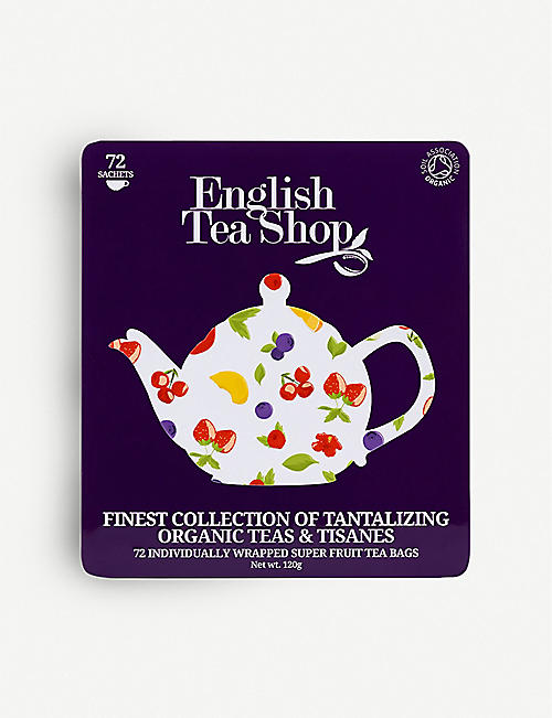 ENGLISH TEA SHOP Super fruit tea gift tin box of 72