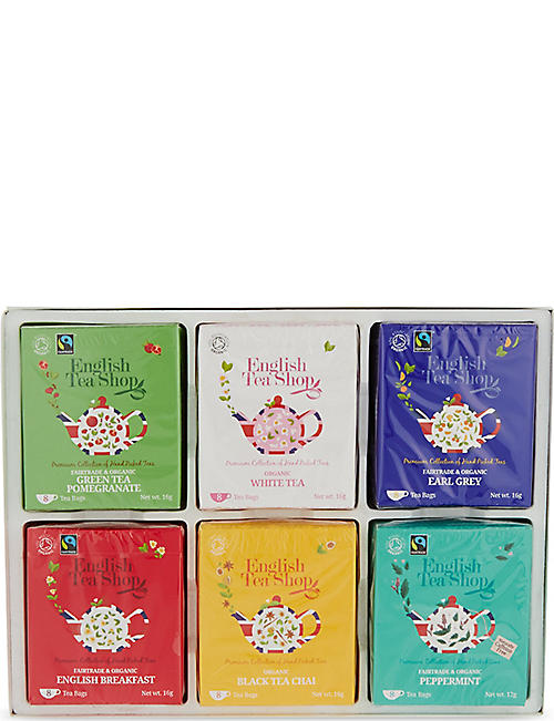 ENGLISH TEA SHOP Organic tea selection box of 48