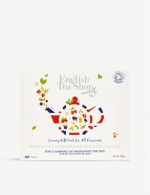 ENGLISH TEA SHOP Organic tea selection box of 96