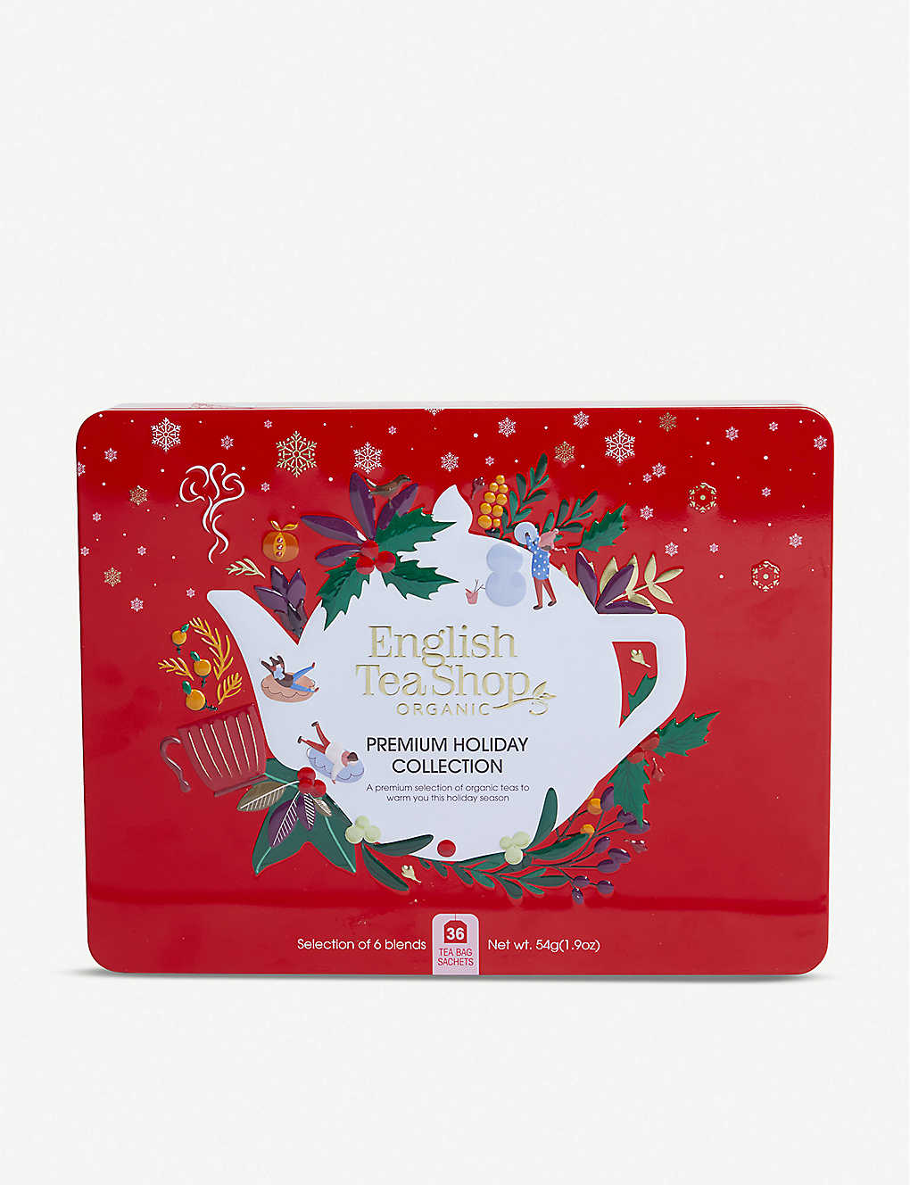 ENGLISH TEA SHOP: Premium Holiday Collection tea bags box of 36