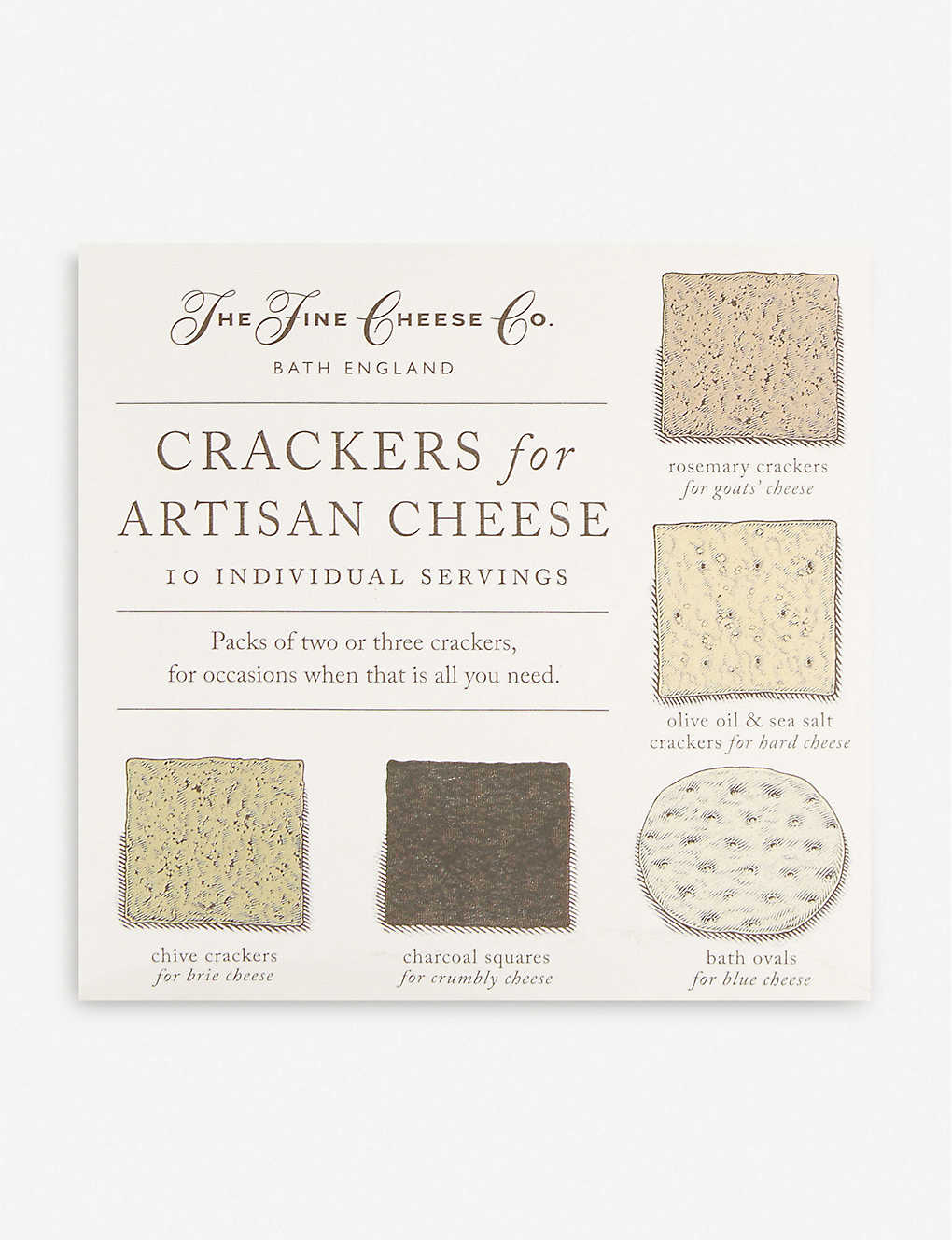 Crackers for artisan cheese 10 x 15g