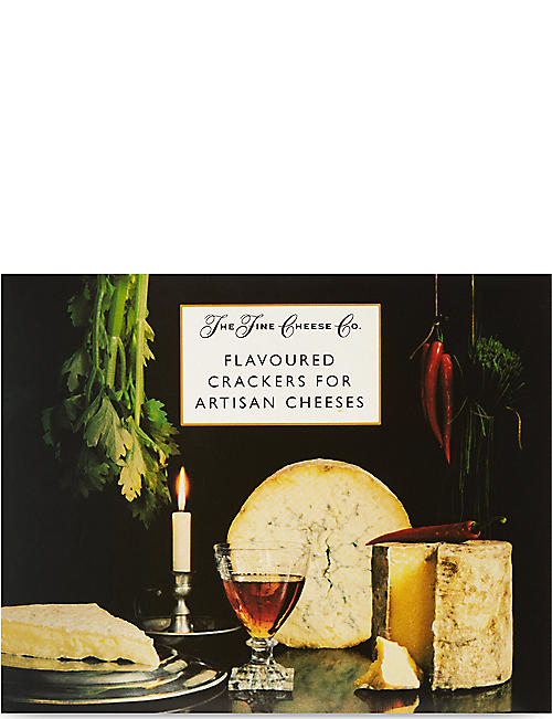 THE FINE CHEESE CO: Crackers for artisan cheese selection box 375g