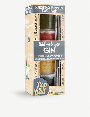 POP A BALL Gin bursting bubbles pack of four 125g