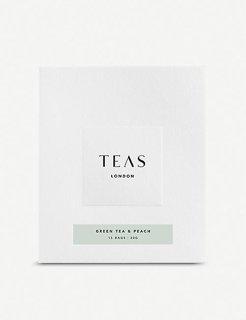 TEAS Peach green tea bags pack of 15