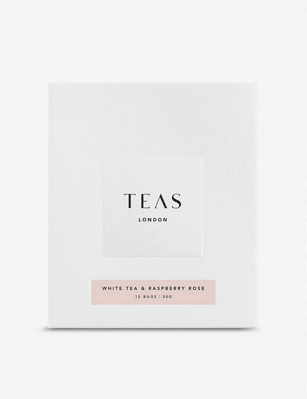 TEAS: Raspberry and English rose white tea bags pack of 15