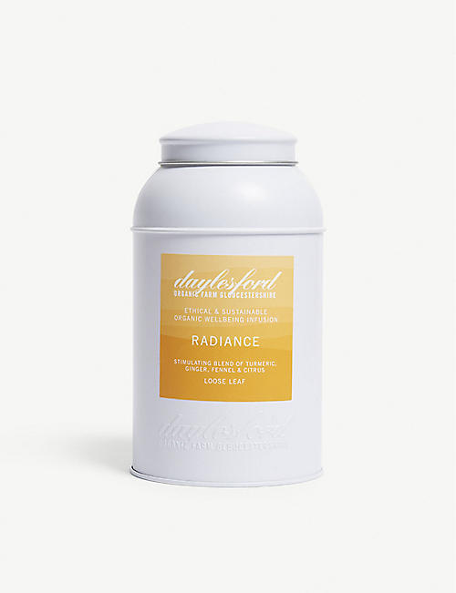 DAYLESFORD: Radiance turmeric, ginger, fennel and citrus loose leaf tea 280g