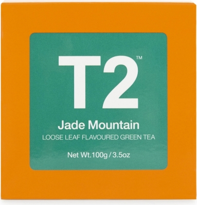 T2 Jade Mountain loose leaf flavoured green tea 100g