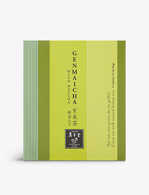 JUGETSUDO: Genmaicha green tea with roasted brown rice sachets 5 pieces 10g