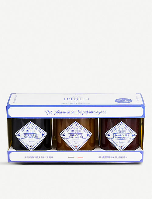 EMI ET LOU Jams gift set of three
