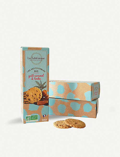 LA SABLESIENNE Les Petites Sables organic salted caramel and tonka biscuits 110g