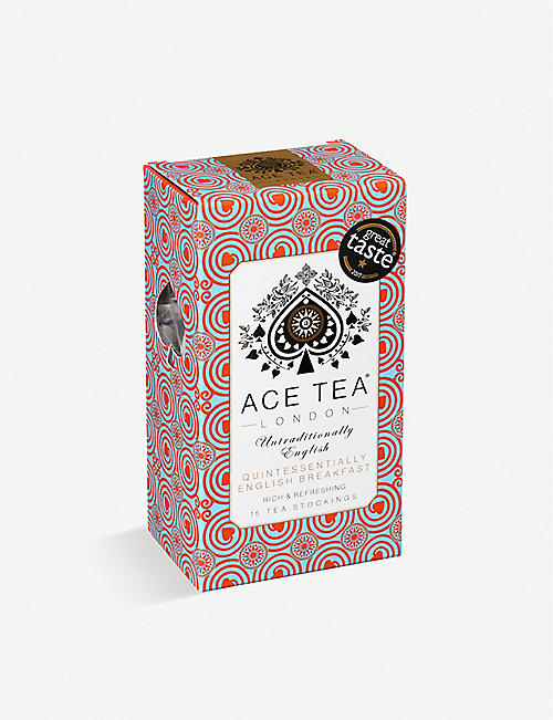 ACE TEA: Quintessentially English Breakfast tea bags box of 15 52.5g