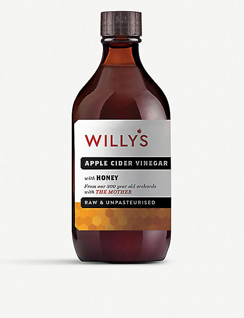 WILLY'S ACV: Honey apple cider vinegar 500g