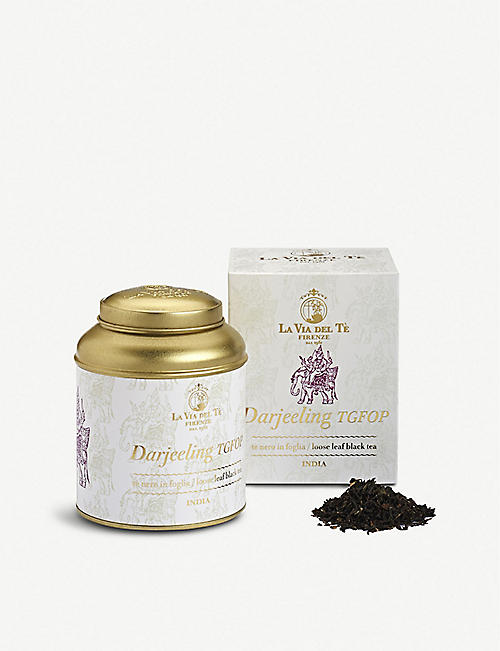TEAS: La Via Del Tè Darjeeling TGFOP loose-leaf black tea 100g