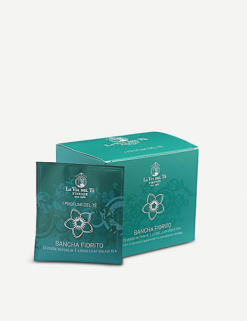 LA VIA DEL TE: Profumi Bancha Fiorito tea bags box of 12 30g