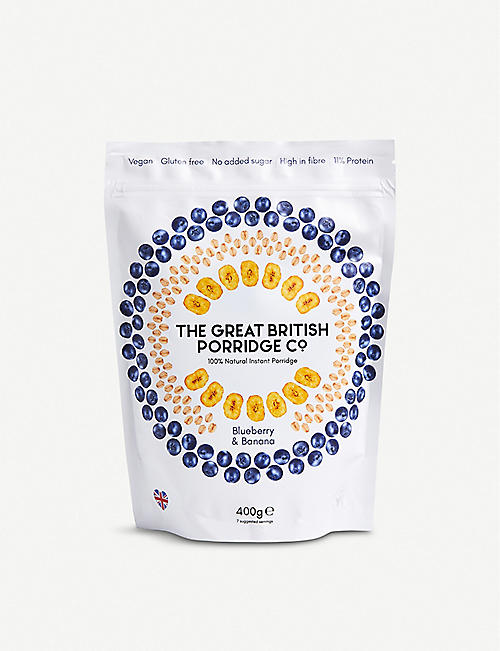 THE GREAT BRITISH PORRIDGE CO: Blueberry and banana porridge 400g