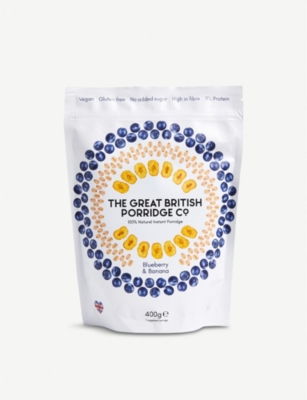 THE GREAT BRITISH PORRIDGE CO Blueberry and banana porridge 400g