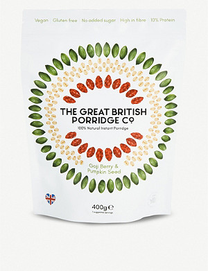 THE GREAT BRITISH PORRIDGE CO Goji berry and pumpkin seed porridge 400g