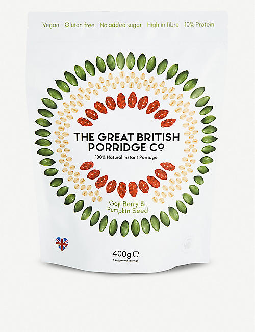 THE GREAT BRITISH PORRIDGE CO: Goji berry and pumpkin seed porridge 400g