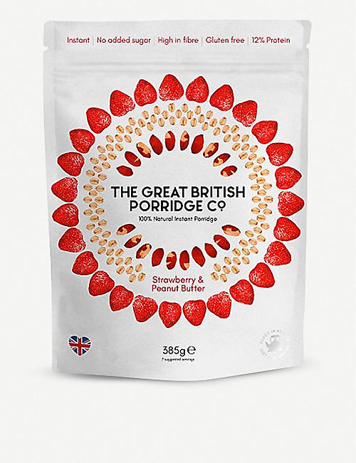 THE GREAT BRITISH PORRIDGE CO Strawberry and peanut butter porridge 400g