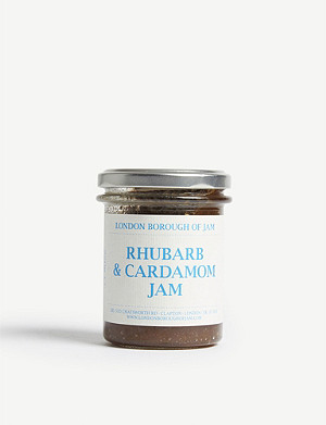 LONDON BOROUGH JAM Rhubarb & cardamom jam 220g