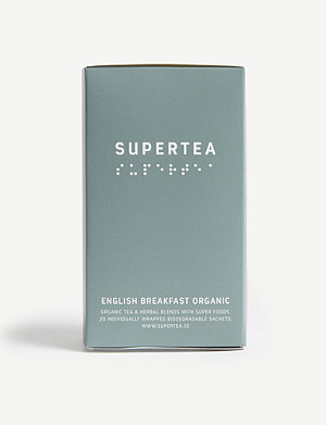 SUPERTEA English breakfast organic tea box of 20