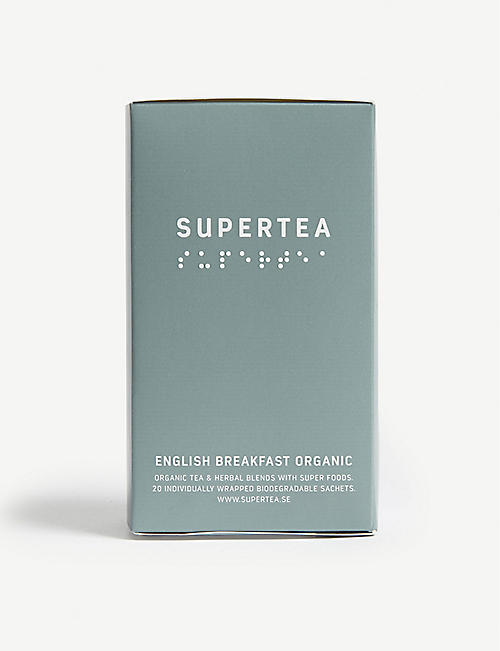 SUPERTEA: English breakfast organic tea box of 20