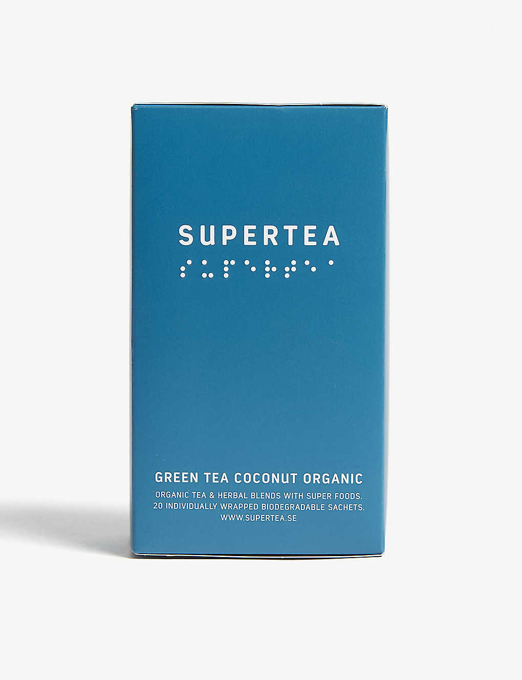 SUPERTEA: Organic coconut green tea box of 20