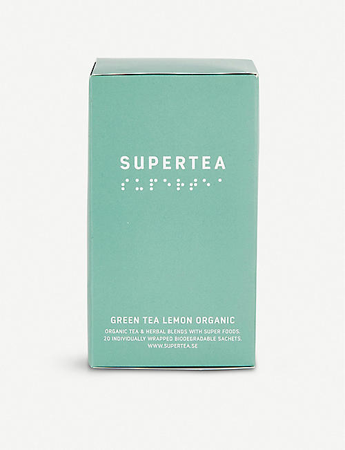SUPERTEA: Organic lemon green tea box of 20